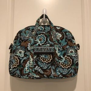 Vera Bradley Java Blue Metro Commuter Laptop Tote